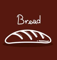 Delicios fresh bread food icon vector