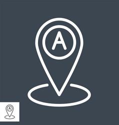 destination line icon vector image