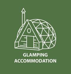 Dome house accomodation vector
