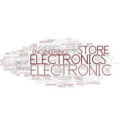 Electronic word cloud concept vector