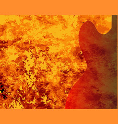 Fire guitar background vector