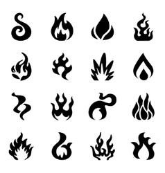 Fire icon set vector