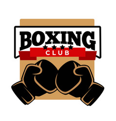 Five-star boxing club logotype with sport gloves vector