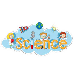 font design for word science vector image