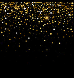 golden glitter particles effect for luxury vector image