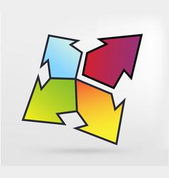 Graphic element arrow vector
