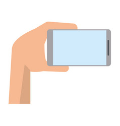 Hand with mobile device modern vector