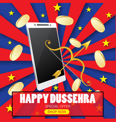 Happy dussehra concept vector