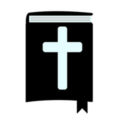 Holy bible simple icon isolated vector