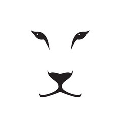 image of a lioness head on white background vector image
