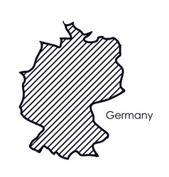 Isolated germany map design vector
