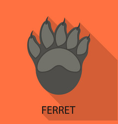 Isolated object ferret and paw logo collection vector