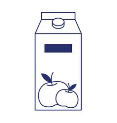 Isolated orange juice box design vector
