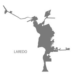 Laredo texas city map grey silhouette vector