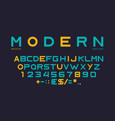 latin alphabet numbers and punctuation font vector image