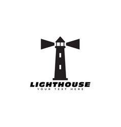 lighthouse logo design template isolated vector image