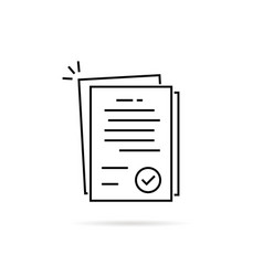 Linear pile of license or contract documents vector