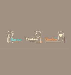 Logo template - barber shop vector