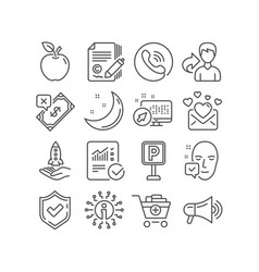 Love mail rejected payment and copywriting icons vector