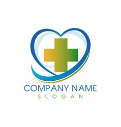 Medical center logo vector