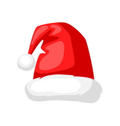merry christmas hat santa claus vector image