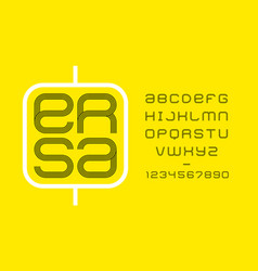 modern minimal font vector image