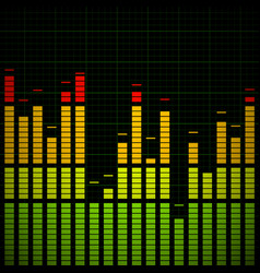 Music equaliser - frequency graph vector