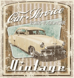 old car vintage crack vector image vector image