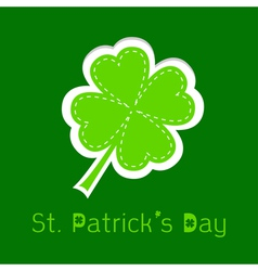 Paper clover leaf dash line happy st patricks day vector