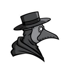 Plague doctor head vector