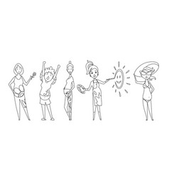 pregnant women set coloring book many views vector image