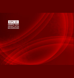 red color wave abstract background technology vector image