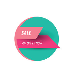 Sale discount design pink and green vector