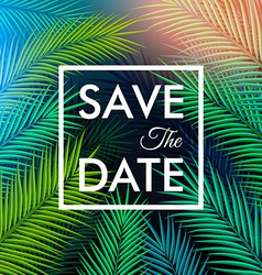 Save the date for your personal holiday Tropical vector image vector image