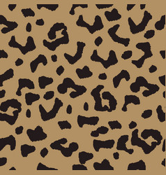 Seamless background with leopard spotty ornament vector