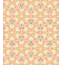 Seamless floral pattern of hearts vector