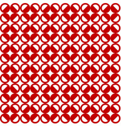 Seamless pattern with red circles vector
