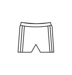 Shorts simple line icon vector
