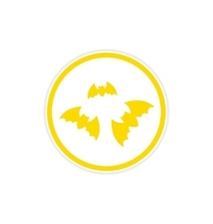 Sticker full moon and bats on a white background vector