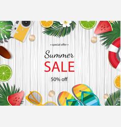 Summer sale banner summer vector