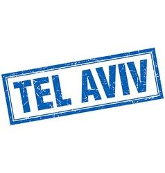 Tel Aviv blue square grunge stamp on white vector image