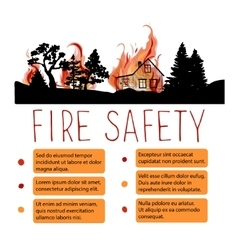 Template of safety from wildfire placard vector image