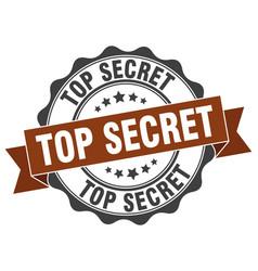 top secret stamp sign seal vector image