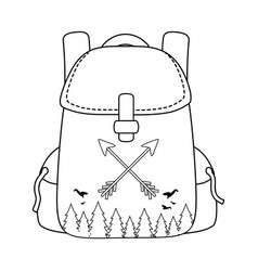 travel bag camping icon vector image
