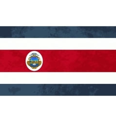 True proportions Costa Rica flag with texture vector image
