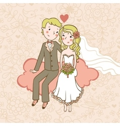 Vintage wedding background vector