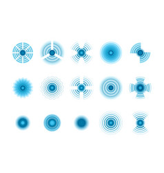 wave signals blue graphic symbols of wave vector image