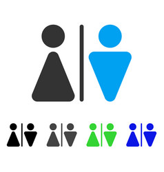 Wc persons flat icon vector