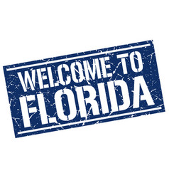 Welcome to florida stamp vector