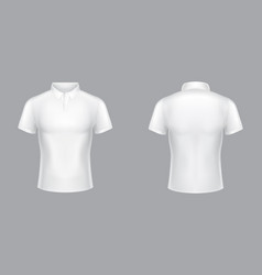 white polo shirt 3d blank model vector image